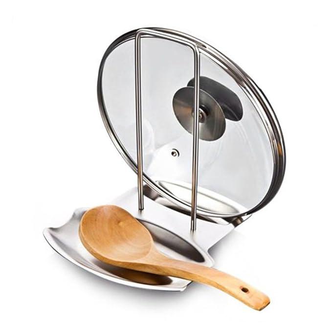 bestomz Soporte Tapa de cocina cuchara resto de acero ...