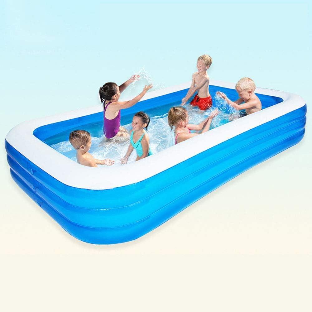 Piscina Hinchable Rectangular, Base Antideslizante de Burbujas Independiente de Varias Capas Airbag Family Pool para Jugar, 365 cm