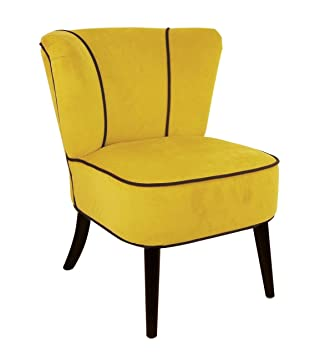 Fauteuil crapaud Jaune aspect velours ~ So Skin: Amazon.fr: Cuisine ...