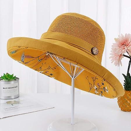 sdssup Doble Capa Floral pequeño Arte Fresco Sombrero de Pescador ...
