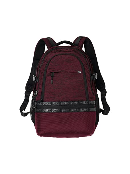 fb3b2cd737 Victoria s Secret Pink Collegiate Backpack Deep Ruby  Amazon.ca  Clothing    Accessories