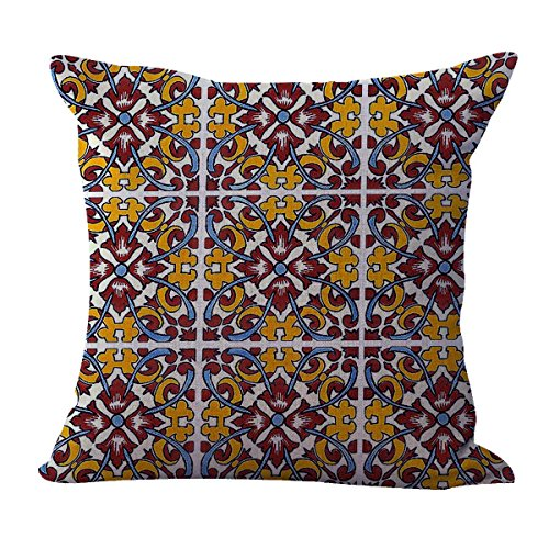 talavera Mexican Spanish cushion cover discount decorative pillow cover (Pillows Discount)