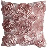 juanshi set of 2 piece decorative rose throw pillow cover cushion case color pink by juanshi