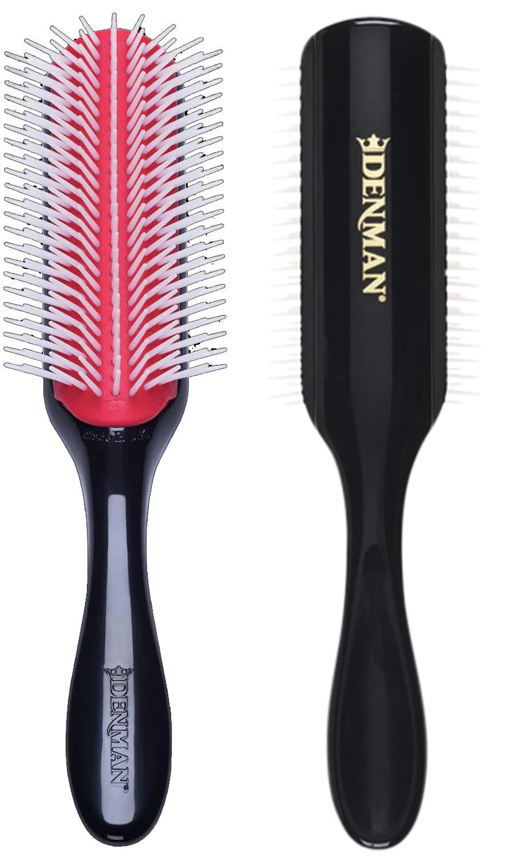 Amazon Com Denman Classic Styling Brush 9 Row D4 Hair Brush For Separating Shaping Defining Curls Blow Drying Styling Detangling Brush Black Beauty