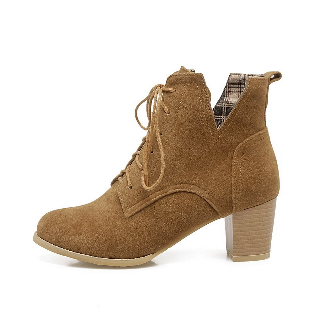 1TO9 Womens Boots Closed-Toe Adjustable-Strap Kitten-Heel Without Lining Water/_Resistant Nubuck Boots MNS02617