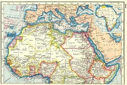 Norte de África: – mapa de colonias europeas en África 1884 1920