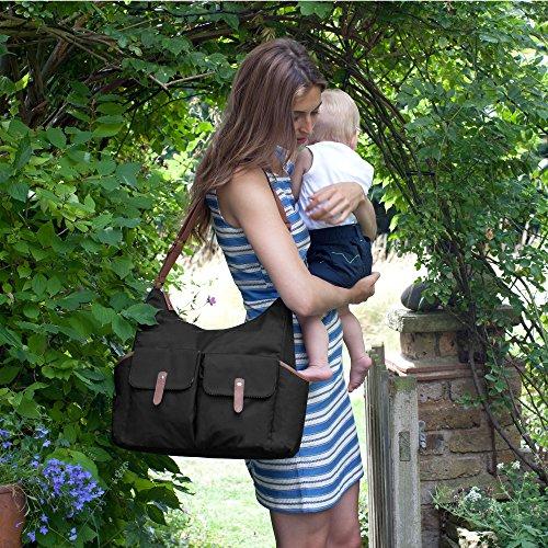 Babymel Wickeltasche Frankie Black BM6877 in schwarz