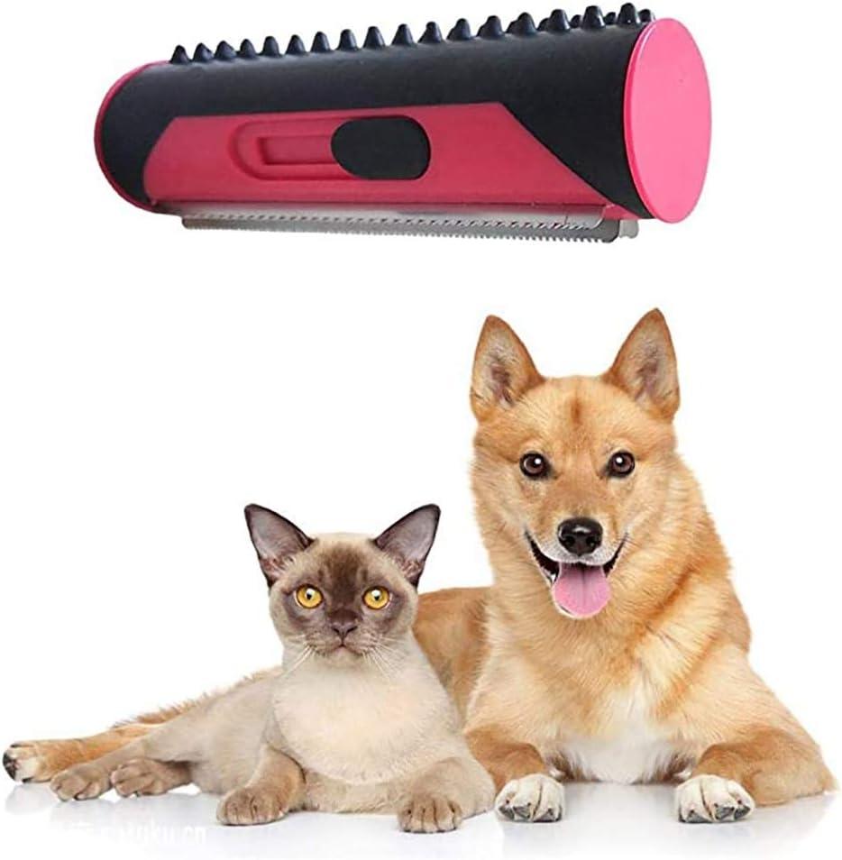 CRJT Shop Rollo De Removedor De Pelo Animal, Cepillo De Depilación De Gato De Perro Mascota Peine Multifuncional Peine De Caspa: Amazon.es: Hogar