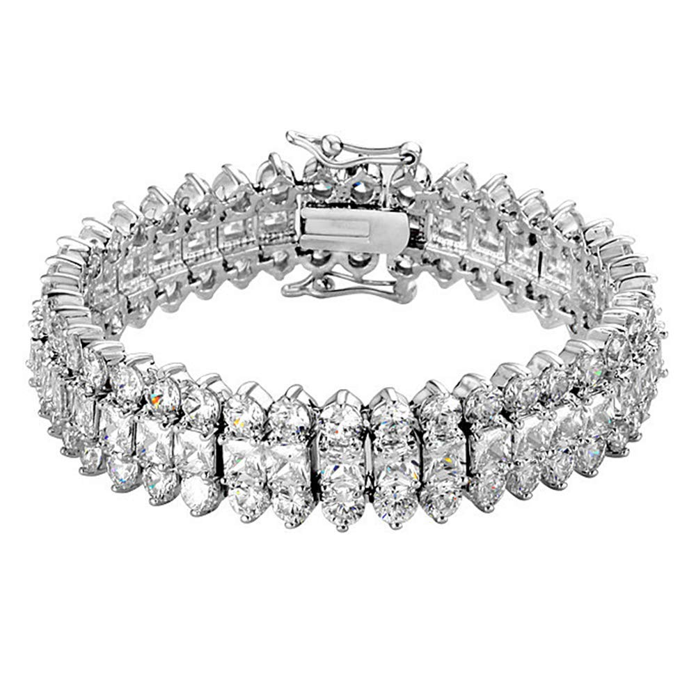 Onefeart White Gold Plated Bracelet for Women Princess NEWA18th090