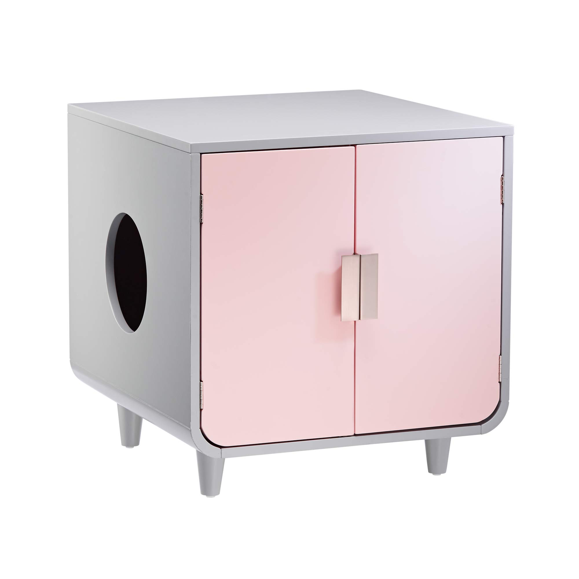 Staart - Dyad Wooden Cat Litter Box - Chablis Pink by Staart