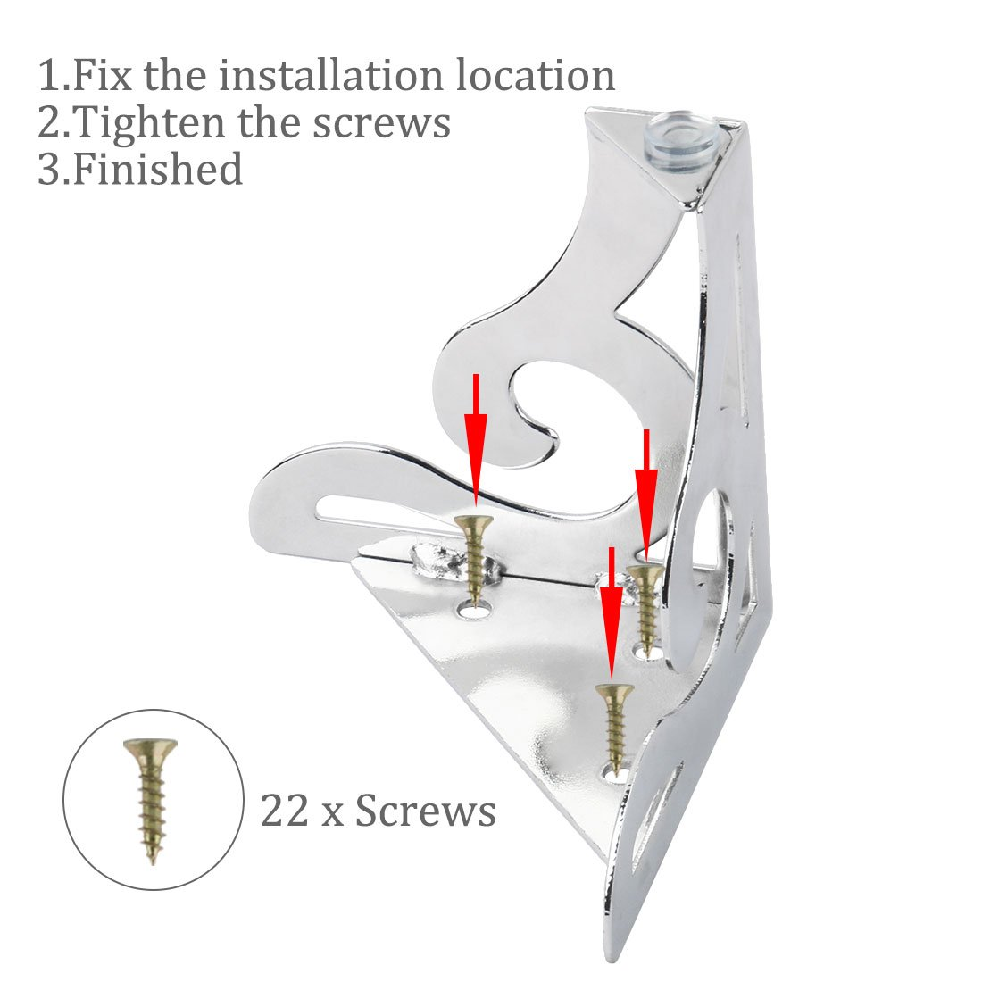 uxcell Metal 4pcs Furniture Legs Feet Cabinet Sofa Table Worktop Shelf Bed Bookcase 100mm x 100mm x 120mm a18011600ux0014