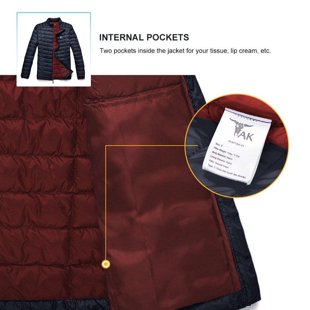 TAK Mens Puffer Down Jacket Packable Ultra Light Coat