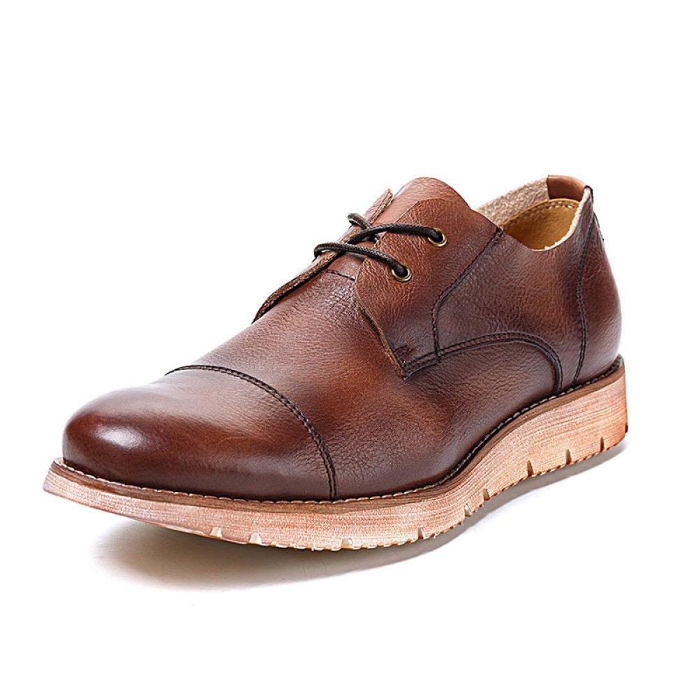 GTYMFH Herrenschuhe Schnürschuhe Atmungsaktive Lässige Lederschuhe Vintage Herren Lederschuhe
