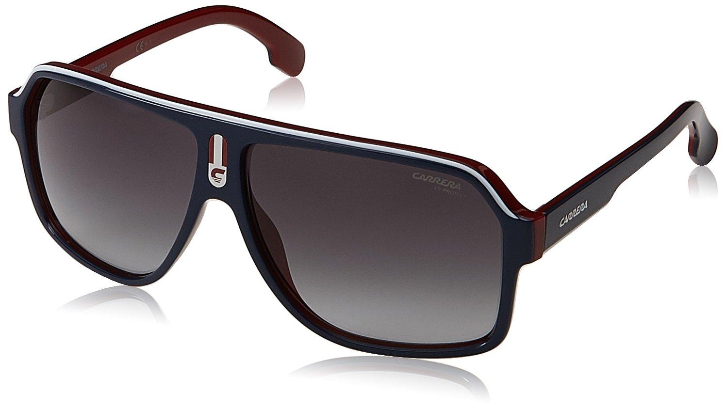 Carrera Mens Ca1001s Aviator Sunglasses RED BLACK//DARK GRAY GRADIENT 62 mm