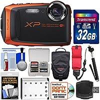 Fujifilm FinePix XP90 Shock & Waterproof Wi-Fi Digital Camera (Orange) with 32GB Card + Case + Battery + Selfie Stick + Float Strap + Kit Key Pieces Review Image
