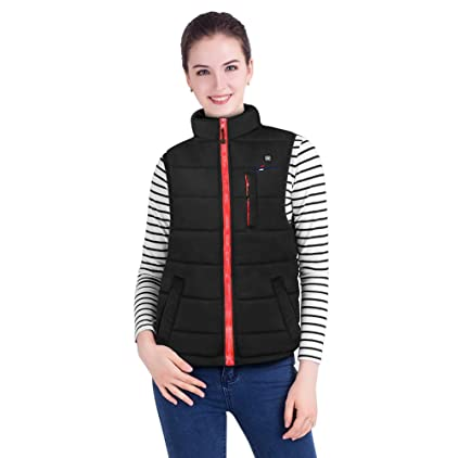 OUTCOOL Women's Heated Vest Slim Fit Heating Winter Vest Lightweight Insulated Heated Waistcoat