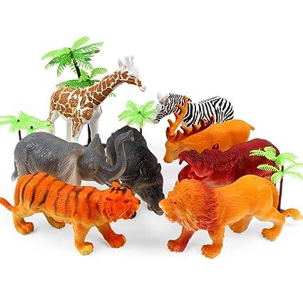 Amazon Com Benyi 12 Pcs Animal Toys Figures Jungle Animal Figures