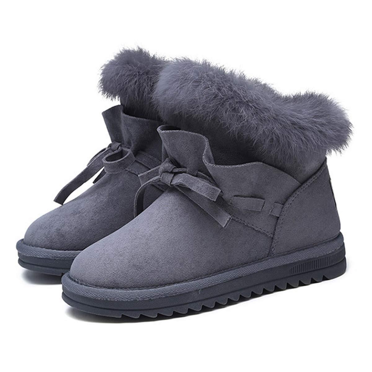 Bottes Femme de Neige Hiver Chaud Chaussure Neige 19911 de en Fourrée Bottes de Neige Mode Noir Kaki Gris Grande Size Boot en Peluche Respirant Mi-Bottes-Fanessy Gris 857ed8f - jessicalock.space