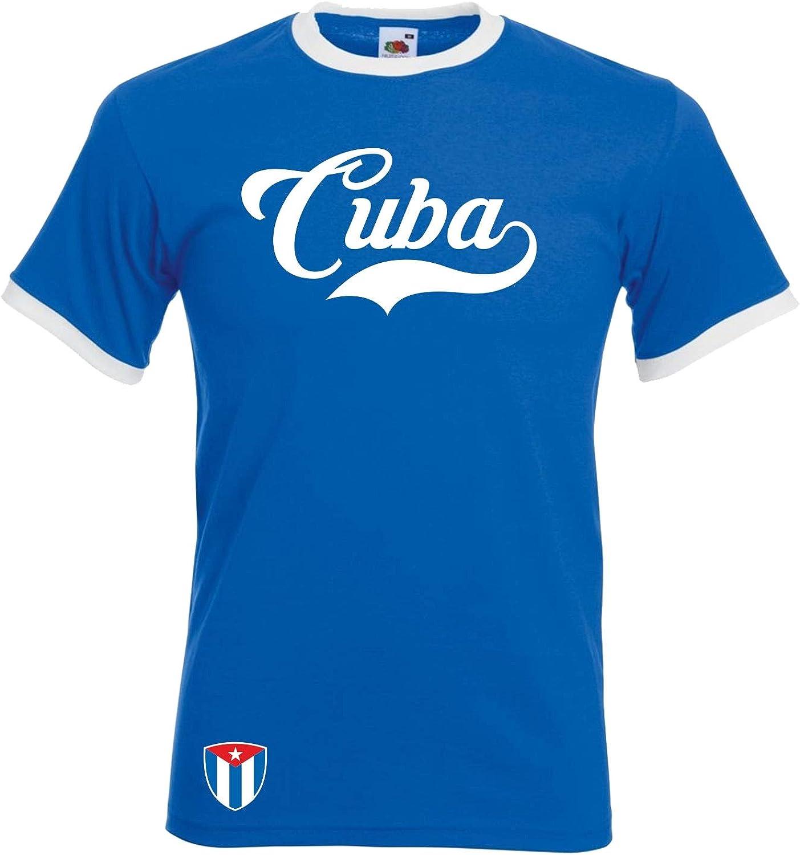 Camiseta de la selección Alemana de fútbol de Kuba Ringer Retro TS – Azul – Mundial 2018 – Camiseta de Manga Corta: Amazon.es: Ropa y accesorios