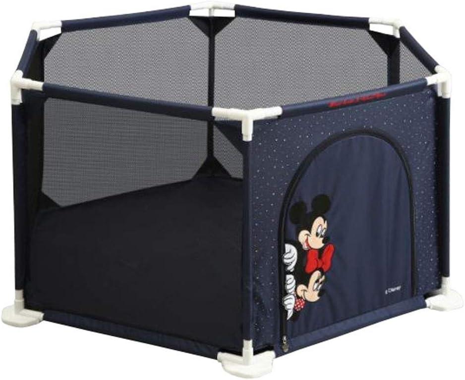 QIYUE Hexágono portátil de dibujos animados bebé Parque infantil Inicio cubierta protectora de seguridad Valla corral