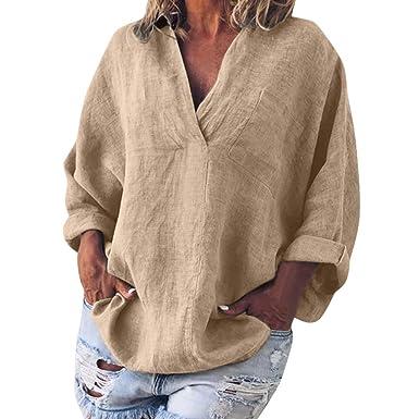 KPILP - Camiseta para Mujer, Talla Grande, S-5XL, Cuello Redondo ...