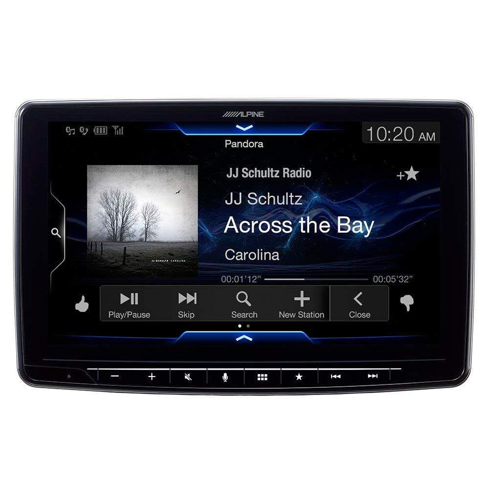 """Amazon.com: Alpine iLX-F309 HALO9 9"""" AM/FM/audio/video Receiver w/ 9-inch  Touch Screen and Mech-less Design - Single-DIN Mounting: Cell Phones &  Accessories"""