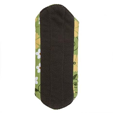 Cojín menstrual lavable, reutilizable Panty Liners de mujeres de tela de bambú toallas sanitarias Carbón