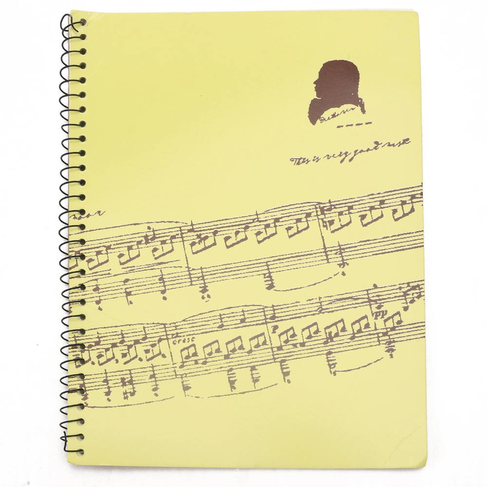 Blank Sheet Music Composition Manuscript Staff Paper Light Yellow A4 50 Pages