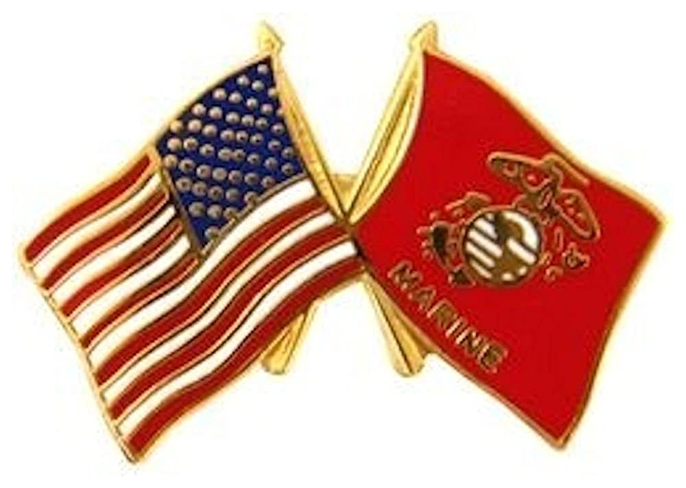 Amazon.com  USA USMC Flags Small Hat Pin  Military Apparel Accessories   Clothing a702a31a8ab