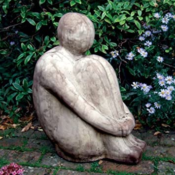 Garden Sculptures Large Harry Modern Stone Statue Amazoncouk