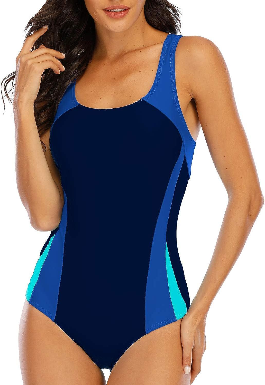 Halcurt Women's Racerback Active Swimsuit One Piece Lap Racing Bathing Suits: Clothing