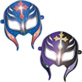 "Amscan Grand Slammin' WWE Paper Mask Birthday Party Wearable Favors (8 Pack), 6"", Blue/Purple"