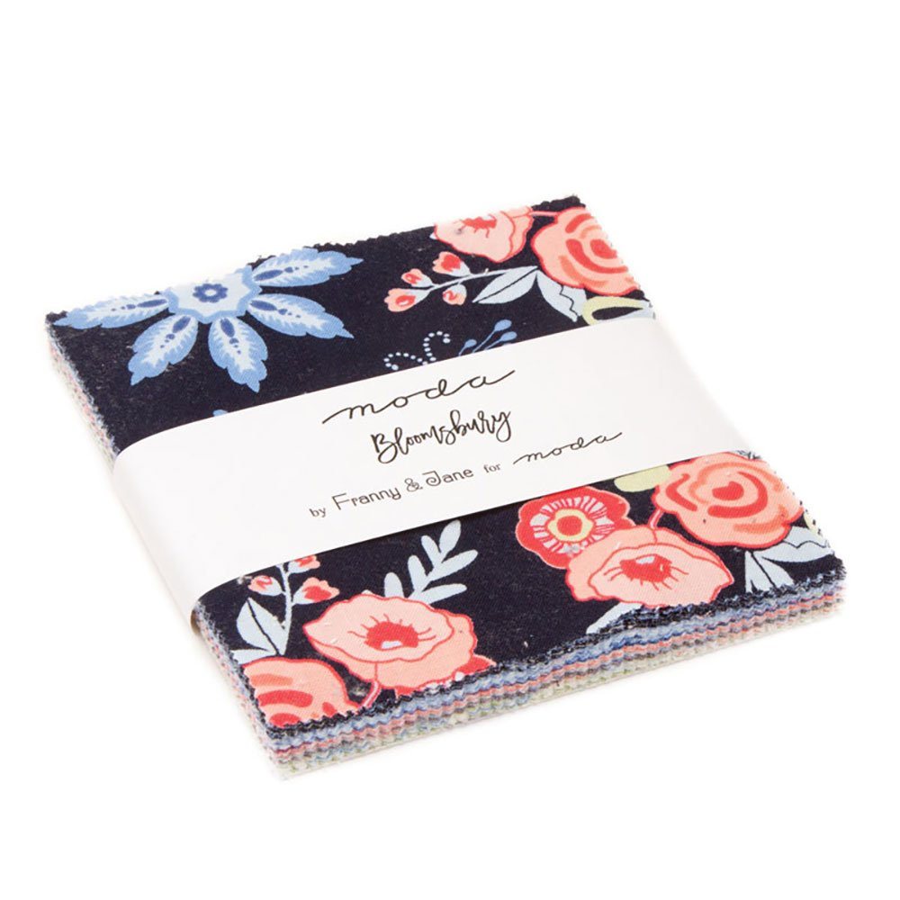 Bloomsbury Charm Pack by Franny & Jane; 42-5 Precut Fabric Quilt Squares United Notions 47510PP