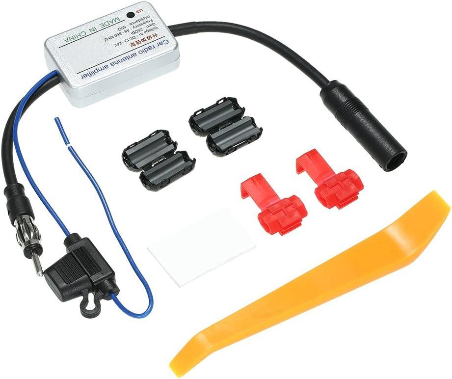 Amplificatore di segnale amplificatore di antenna amplificatore Keenso universale 12V auto radio FM AM Antenna segnale di amplificazione di ricezione amplificatore ad alto guadagno a basso