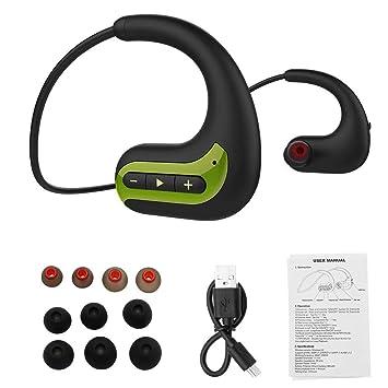 Kqiang Auriculares Bluetooth, IPX8 audífonos impermeables 8 GB de ...