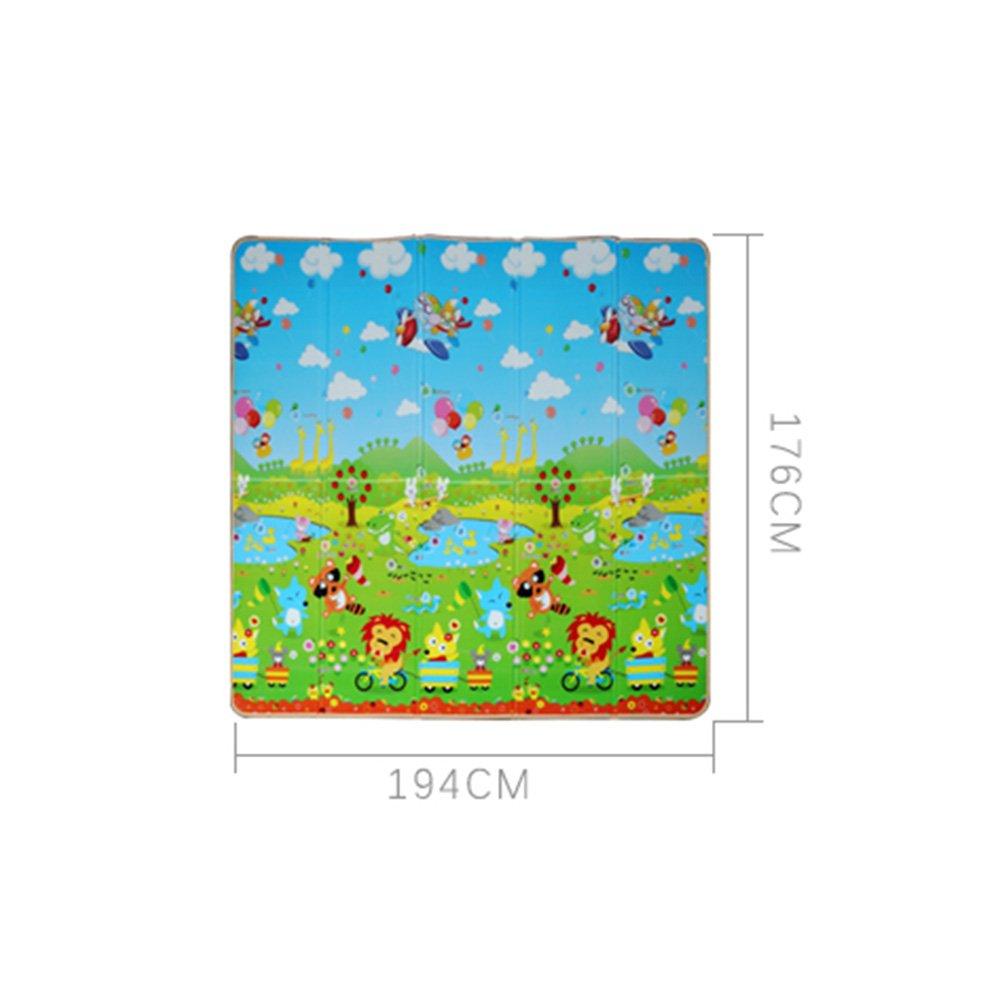 LXLA- Estera plegable para picnic picnic picnic Espesar al aire libre Almohadilla a prueba de humedad Acampar Sleeping Manta Tapete para césped Alfombra doméstica Crawling Rug XPE EPE 196 × 176 × 0.8 Cm ( Color : Style 2 ) 1b6dc9