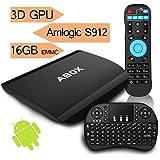 [Gratuito Mini Tastiera] 2017 Modello ABOX A3 Android 6.0 TV Box con Amlogic S912 Octo-Core 64-bit ARM Cortex A53 CPU