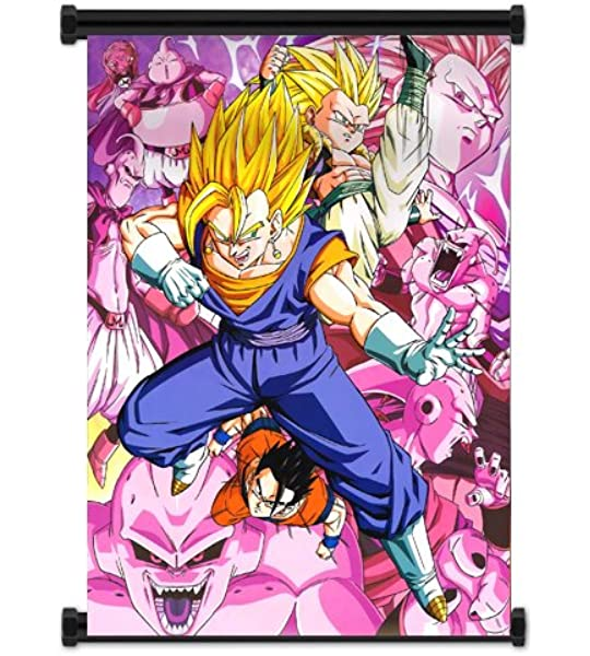 Amazon Com Dragon Ball Z Anime Fabric Wall Scroll Poster 16x21 Inches Wp Dragonballz 48 Posters Prints