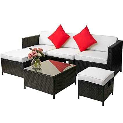 Amazon Com 6 Piece Patio Furniture Set Julyfox Indoor Outdoor