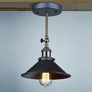 icase4u Applique murale en métal vintage industrielle de lampe d'applique de lumière de mur en métal