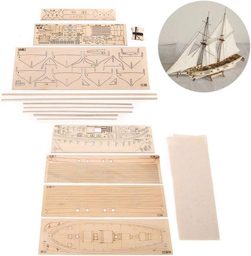 150 Modellbausatz f/ür DIY-Schiffsmontage 270 mm Klassisches H/ölzernes Segelbootmodell 400 ALBEFY Modell Eines H/ölzernen Segelboots