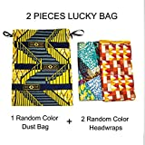 "African Print Head Wraps Extra Long 72""x22"" African Wax Head Scarf Tie for Women (2 Pieces Luckybag)"