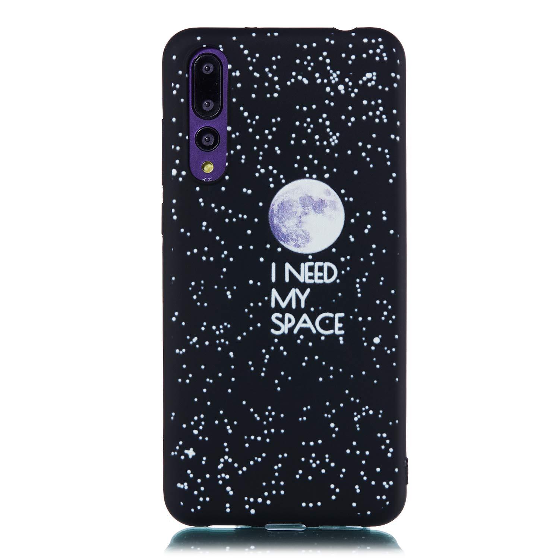 Nadoli Coque Huawei P8 Lite 2017,Cr/éatif Doux Soft Noir /Étui en Silicone Antichoc Housse de Protection Coque Gel Case Cover avec Motif Design,Lune Nuit