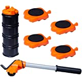 Heavy Duty Furniture Lifter 4 Appliance Roller Sliders with 660 lbs Load Capacity Wheels + Adjustable Height Lifting…