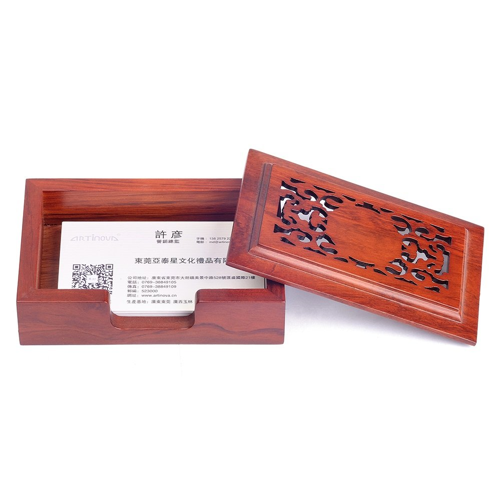 Business Card Case on Desk,Wooden, ARTA-0038
