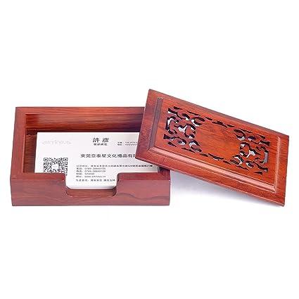 Amazon artinova ornamental engraving wooden business card case artinova ornamental engraving wooden business card case business card holder for businessman arta 0038 colourmoves