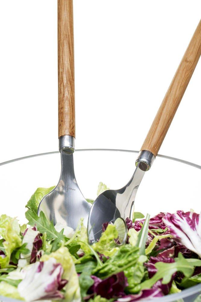 Sagaform 5017605 Oak serving utensils 2 pack Brown