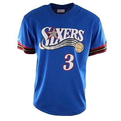 4e5d8056caa Allen Iverson Philadelphia 76ers Mitchell   Ness NBA Men s Mesh Jersey Shirt