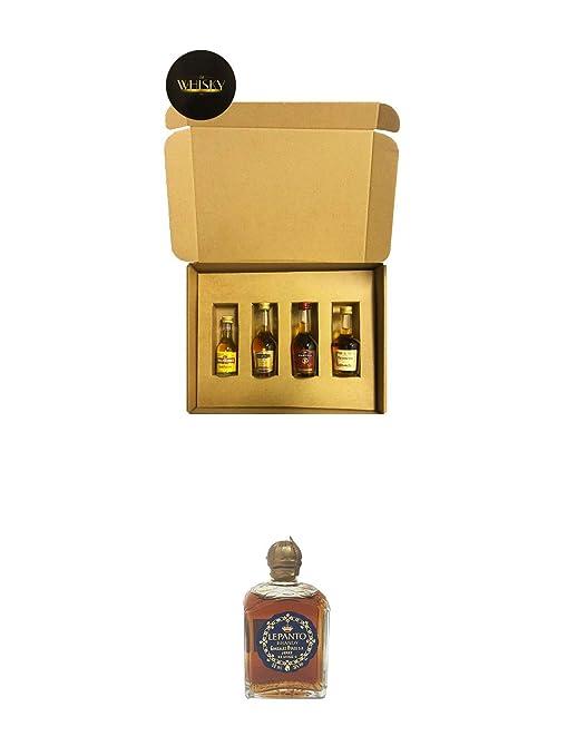 Brandy Geschenkbox mit Martell, Hennessy & Wilthener 4 x 0,05 Liter + Lepanto Brandy 5 cl Miniatur