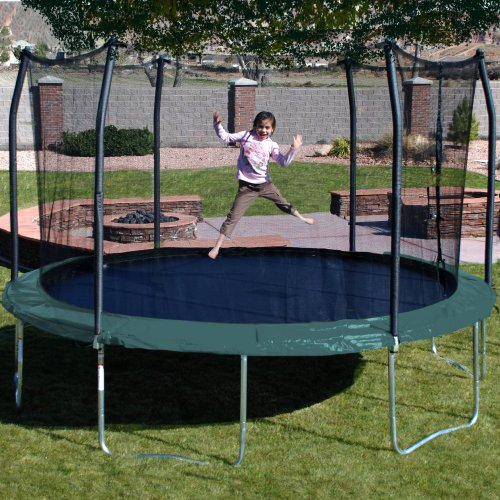 Kidwise Jumpfree 15 Ft Trampoline And Safety Enclosure: Skywalker Trampolines 15-Feet Round Trampoline And
